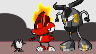 Flain and Seismo meet a Nixel.  (PRNewsFoto/Cartoon Network)