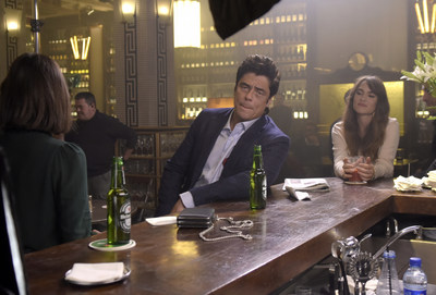 "Benecio Del Toro behind the scenes of Heineken's new ""There's More Behind the Star"" campaign."