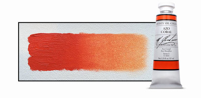 M. Graham Azo Coral oil color is a limited edition oil color ground in walnut oil. Available while supplies last.