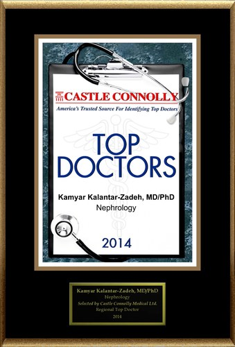 Dr. Kamyar Kalantar-Zadeh is recognized among Castle Connolly's Top Doctors(R) for Orange, CA region in 2014 (PRNewsFoto/American Registry)