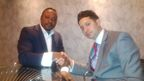 Founder and CEO of Property Investor Africa, Douglas Oppong, with Peter Petrou, Managing Partner at Aspen Morris and Vice President of American International Commercial Arbitration Court.