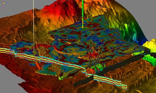 Facies volume in the new interconnected Paradigm platform. (PRNewsFoto/Paradigm)
