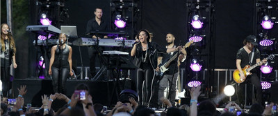 Demi Lovato jams out for her Honda Stage performance in Long Beach. (PRNewsFoto/Honda)