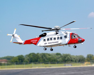 Photo shows first S-92 helicopter delivered to Bristow Group Inc. on Sept 8, 2014, for search-and-rescue service in the United Kingdom (PRNewsFoto/Sikorsky Aircraft Corp.)