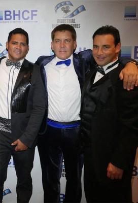 Brian Mehling, M.D., Eddie Amarante, and Manny McDonald