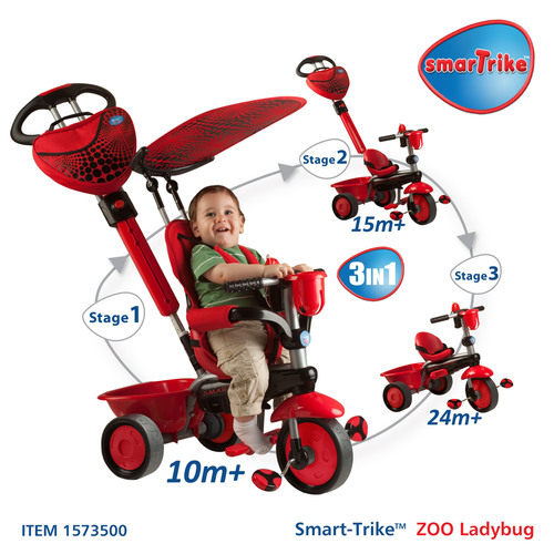 Convertible Smart-Trike™ Tricycles Provide Parents Great Value by Growing With Kids From Six or Ten