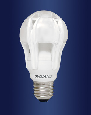 The SYLVANIA ULTRA High Performance Series omni-directional LED A-Line lamp replaces 75-watt and 100-watt incandescent lamps, with energy savings of more than 80 percent.  (PRNewsFoto/OSRAM SYLVANIA)