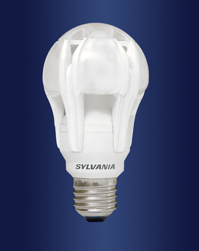 The SYLVANIA ULTRA High Performance Series omni-directional LED A-Line lamp replaces 75-watt and 100-watt ...