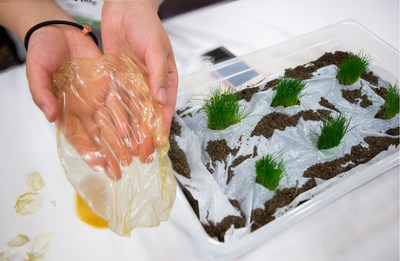 AgriC, a student team from the University of Washington, won the 2016 Alaska Airlines Environmental Innovation Challenge with a  chitin-based biodegradable plastic for agricultural uses which serves as a fertilizer after decomposing.