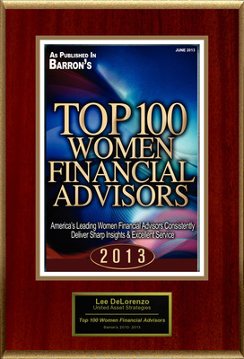 "Lee DeLorenzo, CFP(R), CPWA(R) Selected For ""Top 100 Women Financial Advisors"".  (PRNewsFoto/American Registry)"