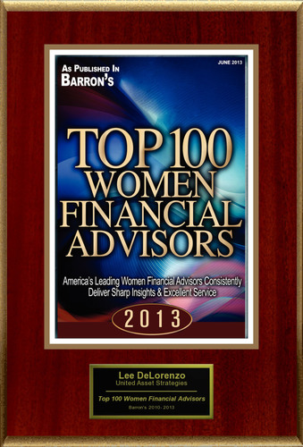 "Lee DeLorenzo, CFP(R), CPWA(R) Selected For ""Top 100 Women Financial Advisors"".  (PRNewsFoto/American Registry)"