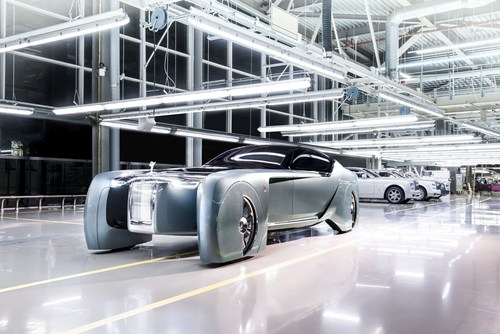 Rolls-Royce VISION NEXT 100 - A Grand Vision of the Future of Luxury Mobility (PRNewsFoto/Rolls-Royce Motor Cars)