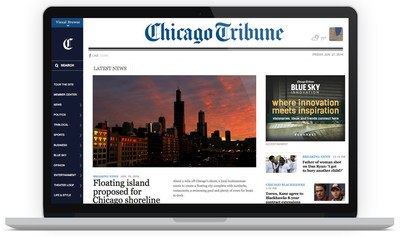 New Digital Experiance at Chicago Tribune (PRNewsFoto/Chicago Tribune)