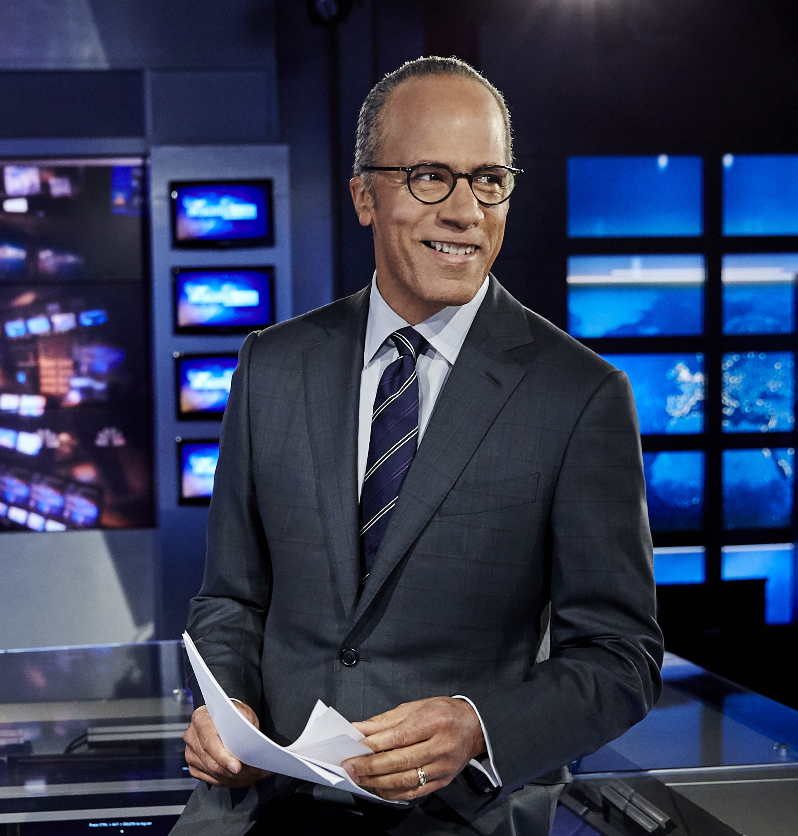 Lester Holt to be honored by Montclair State University School of Communication and Media on Friday, December 2. Photo courtesy of NBC News.