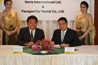 Hertz has recently renewed its agreement with its franchise partner Paragon Car Rental Co., Ltd which has been operating Hertz in Thailand since 2003. (PRNewsFoto/The Hertz Corporation)
