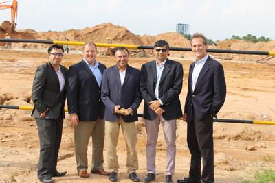 Pictured (L-R) Dhaval Bhatia (GMR), Adrian Possumato, Laxmikant Khaitan, R. Narayan (GMR), and Eric Armenat