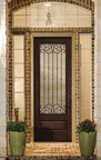 """This Therma-Tru Classic-Craft Mahogany Collection door features Borrassa glass package and has just been designated as a Consumers Digest """"Best Buy"""" for fiberglass entryways."""