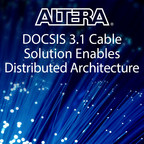 Altera DOCSIS Remote (MAC) PHY design, which is being demonstrated with partners Analog Devices, and Capacicom, enables cable operators to more efficiently and cost-effectively meet the ever-increasing need to segment cable networks, driven by the demand of high-speed Internet, unicast 4K video and other multimedia content.