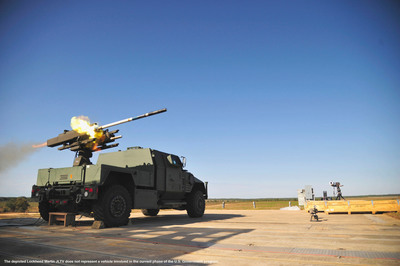 Lockheed Martin Demonstrates DAGR(R) Missile Ground Vehicle Launch Capability From JLTV.  (PRNewsFoto/Lockheed Martin)