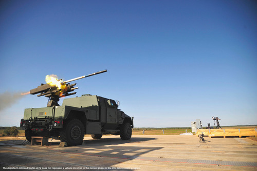 Lockheed Martin Demonstrates DAGR(R) Missile Ground Vehicle Launch Capability From JLTV.  (PRNewsFoto/Lockheed ...