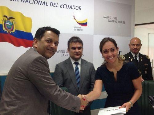 MKU Pvt. Ltd. awarded contract for 40,000 body armour for Ecuador Police Force (PRNewsFoto/MKU Pvt_ Ltd_)