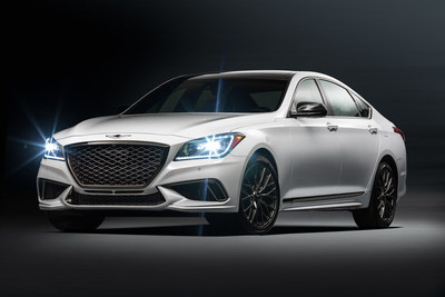 Genesis today introduced the all-new 2018 Genesis G80 3.3T Sport trim, which will be on display at the 2016 Los Angeles Auto Show. The G80 3.3T Sport builds on the refined performance of the popular Genesis G80 and adds a powerful new 3.3-liter turbocharged V6 engine plus unique sport performance upgrades delivering improved driving dynamics and sport agility.