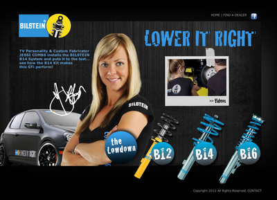 New BILSTEIN Lower it Right Website LOWERITRIGHT.COM Captures Excitement of BILSTEIN Products.  (PRNewsFoto/BILSTEIN)