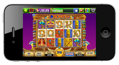 DoubleDown Casino's Mobile Cleopatra slots game.  (PRNewsFoto/IGT)