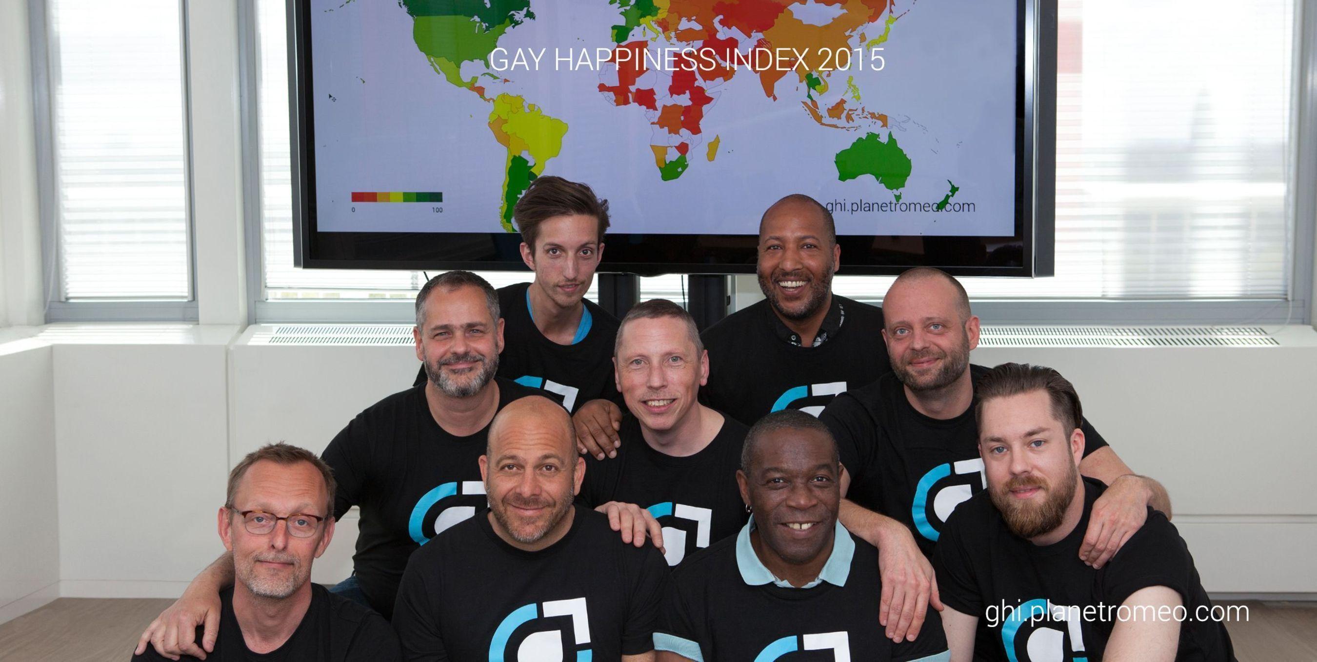 Gay Happiness Index 2015 Team members (PRNewsFoto/PlanetRomeo)