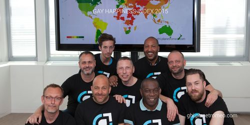 Gay Happiness Index 2015 Team members (PRNewsFoto/PlanetRomeo)