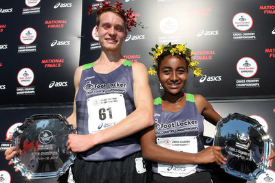 Drew Hunter of Purcellville, Va. and Weini Kelati of Leesburg, Va. captured first place titles at the 37th Annual Foot Locker Cross Country Championships (FLCCC) National Finals at Morley Field, Balboa Park in San Diego, Calif., Saturday, Dec. 12, 2015.