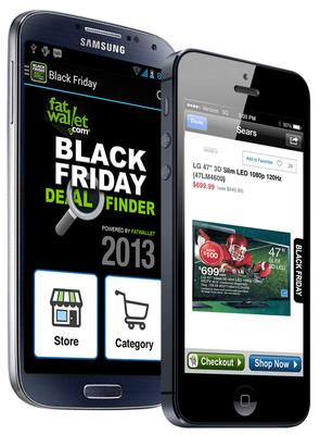 2013 FatWallet Black Friday Deal Finder: Shop for Over 40,000 Deals, Anywhere!  (PRNewsFoto/FatWallet)