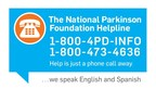 The National Parkinson Foundation Answers 50,000 Helpline Calls