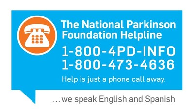 The National Parkinson Foundation Helpline, 1-800-4PD-INFO (473-4636). Help is just a phone call away.