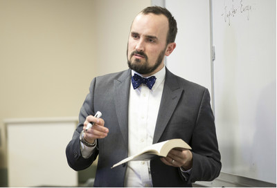 Dr. Dwight Lindley, assistant professor of English at Hillsdale College, was awarded The Emily Daugherty Award for Teaching Excellence.
