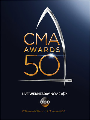 """The 50th Annual CMA Awards"" will broadcast live from the Bridgestone Arena in Nashville Wednesday, Nov. 2 on the ABC Television Network. CREDIT: CMA"