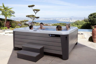 The stunning Grandee hot tub, part of the Hot Spring Highlife Collection NXT line.