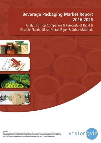 Beverage Packaging Market Report 2016-2026 (PRNewsFoto/Visiongain)