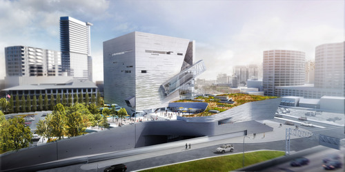 Topping Out Held for Perot Museum of Nature & Science in Dallas