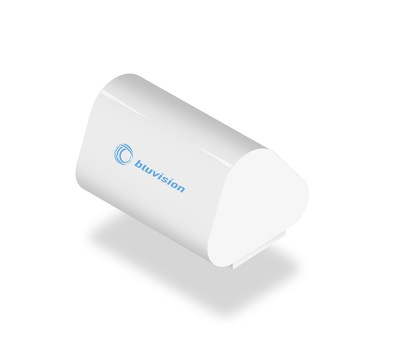 Bluvision sensor beacon with 10-year battery life
