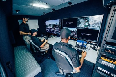 UAS pioneer FlyMotion's TRIDENT mobile command and control vehicle for drone-mounted cameras integrates LiveU's hybrid bonded cellular technology to deliver unmatched capabilities for live video acquisition, management and distribution over IP.