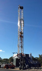 LNG-Fueled Drilling Rig in the Pennsylvania Marcellus.  (PRNewsFoto/Prometheus Energy Group Inc.)