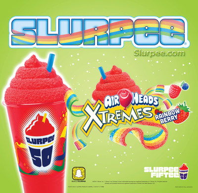 7-Eleven(R) stores and Airheads Candy created Airheads Day. On Friday, April 8, at participating U.S. 7-Eleven stores, customers can get a FREE small Airheads Xtremes Rainbow Berry Slurpee drink with the purchase of any 2-ounce package of Airheads or Airheads Xtremes candy.