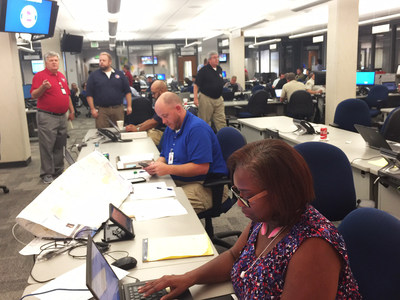 Southeastrans staff joins GEMHSA at the Georgia State Operations Center to provide paratransit transportation management services during Hurricane Matthew's path toward Georgia's east coast.