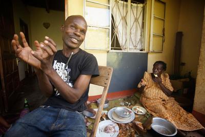 David Kato, one of Uganda's first openly gay activists, with his mother, Lydia Mulumba Nalongo. (PRNewsFoto/The Global Forum on MSM & HIV) (PRNewsFoto/THE GLOBAL FORUM ON MSM & HIV)