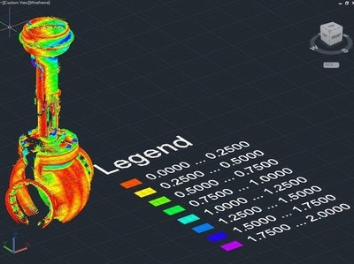 PointSense for AutoCAD 17.5 Color-by-deviation