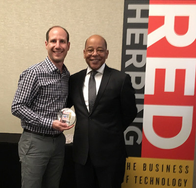 LiveAuctioneers VP Product and Marketing Phil Michaelson, left, with Red Herring Publisher/CEO Alex Vieux. Red Herring image