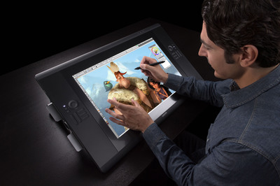 Wacom's Cintiq 24HD touch provides an immersive and intuitive way to create digital content.  (PRNewsFoto/Wacom)