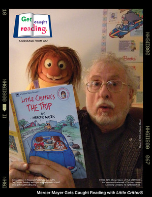 "Mercer Mayer and Little Critter ""Get Caught Reading"".  (PRNewsFoto/Silver Dolphin Books)"