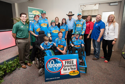 Eckrich and Richard Petty Motorsports give new wheelchair to 11-year-old boy. (PRNewsFoto/Eckrich)